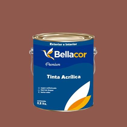 Tinta Acrílica Semi-Brilho Premium C74 Marrom Claro 3,2L Bellacor