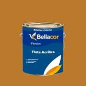 Tinta Acrílica Semi-Brilho Premium C76 Amarelo Ocre 3,2L Bellacor