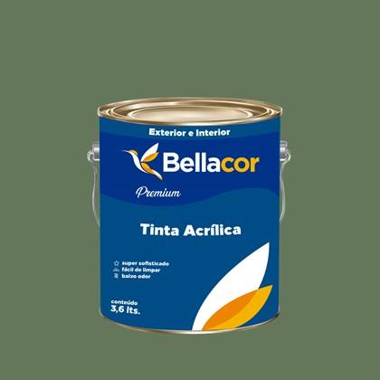 Tinta Acrílica Semi-Brilho Premium C81 Verde Hortelã 3,2L Bellacor