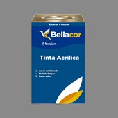 Tinta Acrílica Semi-Brilho Premium C84 Cinza Grafite 16L Bellacor