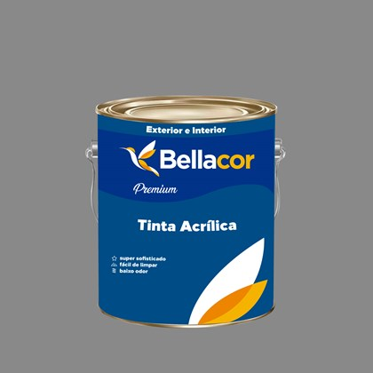 Tinta Acrílica Semi-Brilho Premium C84 Cinza Grafite 3,2L Bellacor
