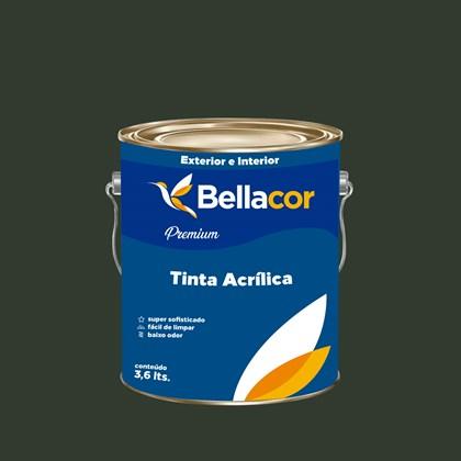 Tinta Acrílica Semi-Brilho Premium C91 Verde Grama 3,2L Bellacor