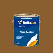 Tinta Acrílica Semi-Brilho Premium C99 Marrom Antigo 3,2L Bellacor