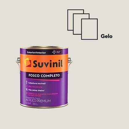 Tinta Acrílico Fosco Completo Gelo 3,6L Suvinil
