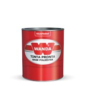 TINTA AUTOMOTIVA BASE POLIÉSTER BEGE NEVADA METAL GM 03 - 900ML WANDA