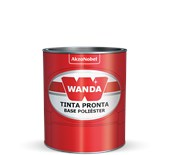 TINTA AUTOMOTIVA BASE POLIÉSTER CINZA SAND METAL GM 13 - 900ML WANDA