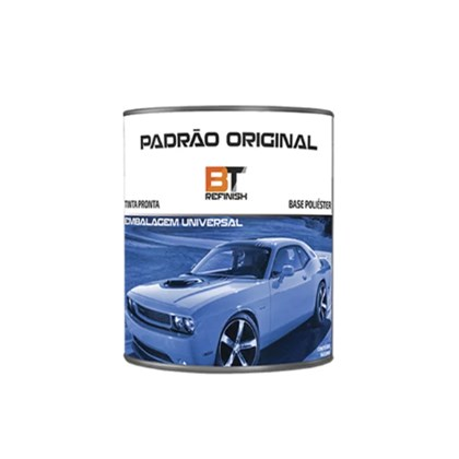 Tinta Automotiva Base Poliéster Preto Carbon Flash GM11 900ml Bt Refinish