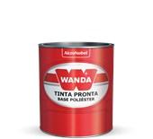 TINTA AUTOMOTIVA BASE POLIÉSTER PRETO EBONY FORD 98 - 900ML WANDA