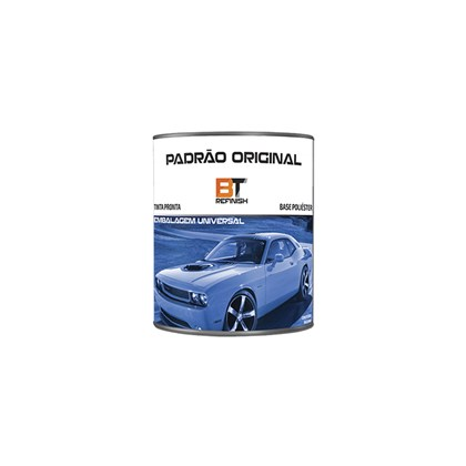 Tinta Automotiva Preto Global GM12 900ml Bt Refinish