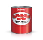 TINTA AUTOMOTIVA PU PRETO CADILAC A+B - 900ML WANDA