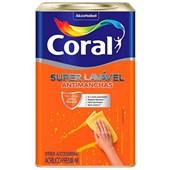 Tinta Coral Acrílica Fosca Super Lavável Eggshell Branco - 18L