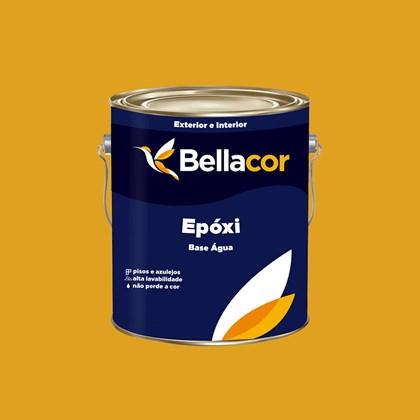 Tinta Epóxi Brilhante 3,2L C64 Amarelo Ouro Base Água Bellacor
