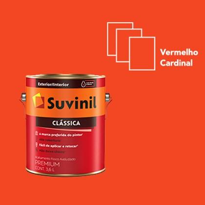 TINTA FOSCA CLÁSSICA VERMELHO CARDINAL PREMIUM - 3,6L SUVINIL