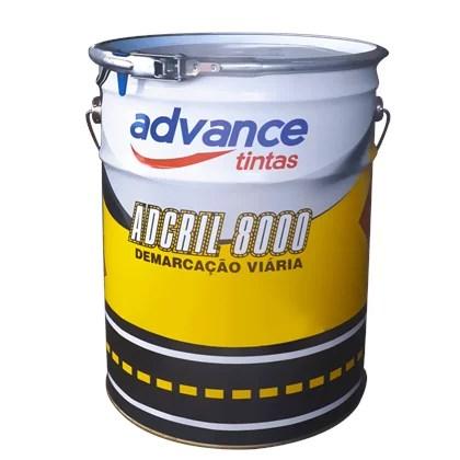 Tinta para Demarcação Adcril 8000 Cinza Médio N5 - 18L - Advance