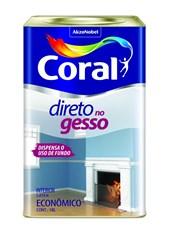 TINTA PARA GESSO DIRETO NO GESSO BRANCA - 18L CORAL