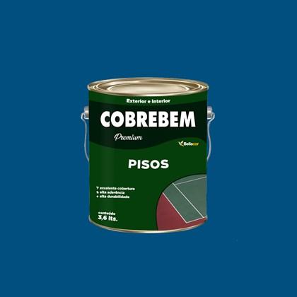 TINTA PISO COBREBEM AZUL - 3,6L BELLA COR