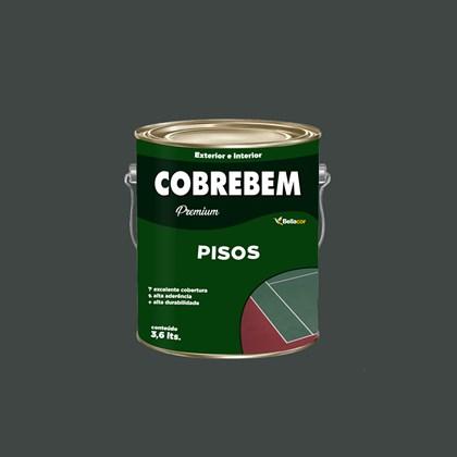 Tinta Piso Cobrebem Cinza Chumbo 3,6L Bellacor