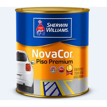 TINTA PISO NOVACOR BRANCO - 900ML SHERWIN  WILLIAMS