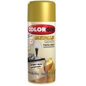 Tinta Spray Para Efeito Metálico - Ouro - 350ML - Colorgin
