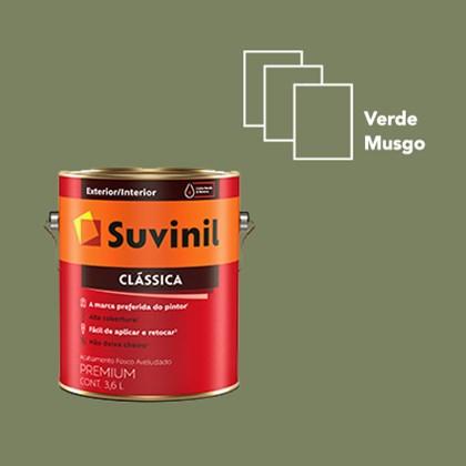 Tinta Suvinil Clássica Fosco Aveludado Verde Musgo - 3,6L